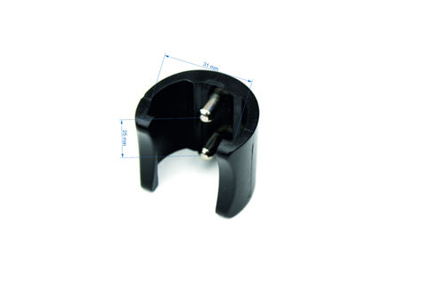 MK5 double pin locker black 2.5 cm